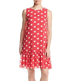 Tommy Hilfiger® Polka Dot Chiffon Dress