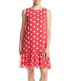 Tommy Hilfiger® Polka Dot Chiffon Dress