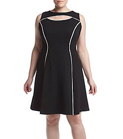 Gabby Skye® Plus Size Keyhole Knit Dress