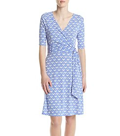 K. Studio Wrap Fit And Flare Dress