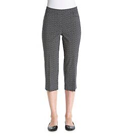 Briggs New York® Printed Pull On Capri Pants