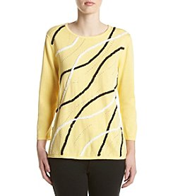 Alfred Dunner® Sunburst Soutache Sweater