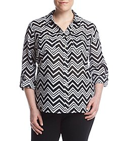 Studio Works® Plus Size Print Blouse