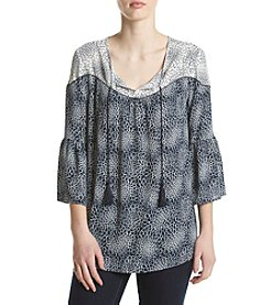Ivanka Trump® Floral Bell Sleeve Peasant Top