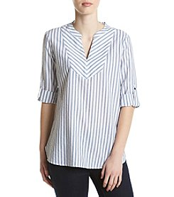 Ivanka Trump® Seersucker Striped Shirt