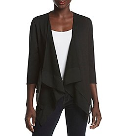 Studio Works® Petites' Knit Cardigan With Chiffon Hem