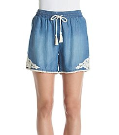 Ruff Hewn Lace Trim Soft Shorts