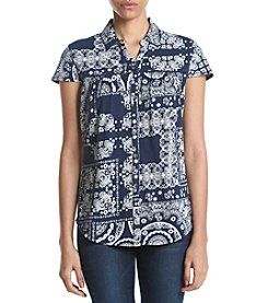 Ruff Hewn Bandana Print Western Shirt