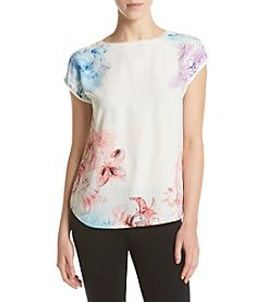 Ruff Hewn GREY Floral Front Tee