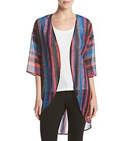 Ruff Hewn GREY Ikat Chiffon Kimono