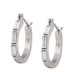 Kensie® Stone Hoop Earrings