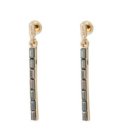 Kensie® Linear Drop Earrings