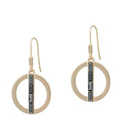 Kensie® Open Circle Drop Earrings