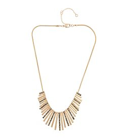 Kensie® Paddle Stone Bib Necklace