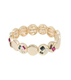 Kensie® Stone Disc Stretch Bracelet