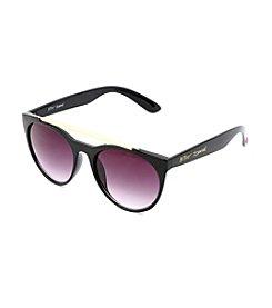 Betsey Johnson Round X-Bar Sunglasses