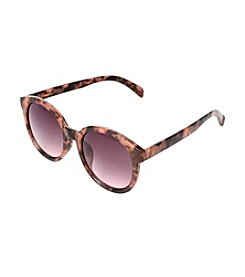 Betsey Johnson® Round Plastic Sunglasses