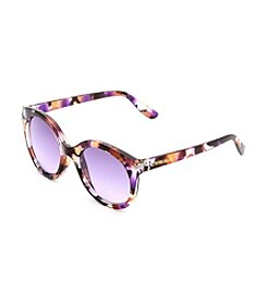 Cynthia By Cynthia Bailey Round Floral Plastic Sunglasses