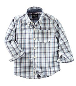OshKosh B'Gosh® Boys' 2T-7 Long Sleeve Plaid Woven Shirt