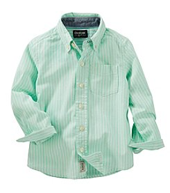OshKosh B'Gosh® Boys' 2T-7 Long Sleeve Striped Woven Shirt