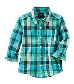 OshKosh B'Gosh® Boys' 2T-7 Long Sleeve Plaid Woven Shirt