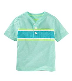 OshKosh B'Gosh® Boys' 2T-7 Short Sleeve Striped Henley Shirt