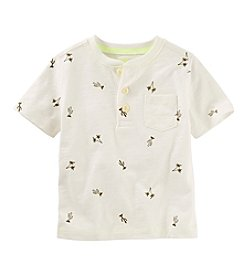 OshKosh B'Gosh® Boys' 2T-7 Short Sleeve Printed Henley Shirt