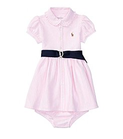 Lauren Ralph Lauren® Baby Girls Stripe Dress One-Piece