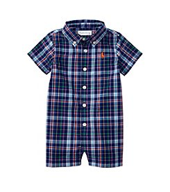 Ralph Lauren® Baby Boys Plaid Shortall