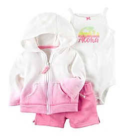 Carter's® Baby Girls' 3-Piece Cardigan Tank Short Set