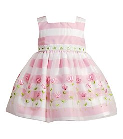 Sweet Heart Rose® Baby Girls' Floral Organza Dress