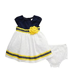 Sweet Heart Rose® Baby Girls' 2-Piece Eyelet Dress With Bottoms