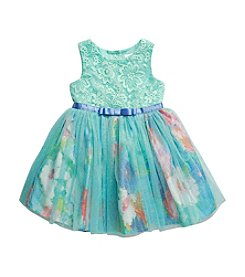 Sweet Heart Rose® Baby Girls' Lace To Glitter Dress