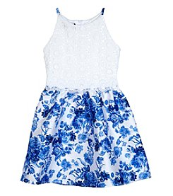 Amy Byer Girls' Floral Print Dress