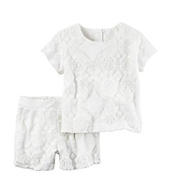 Carter's® Girls' 4-8 2-Piece Lace Top Short Set