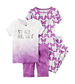 Carter's® Baby Girls' 4-Piece Ombre Dreams Pajama Set