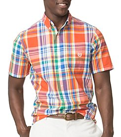 Chaps® Men's Big & Tall Short Sleeve  Easy Care Wovens Button Down