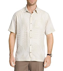 Van Heusen® Men's Big & Tall Leaf Jaquard Short Sleeve Woven Shirt
