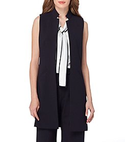 Tahari® Open Front Long Vest