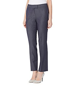 Tahari ASL® Thick Waistband Denim Straight Pants