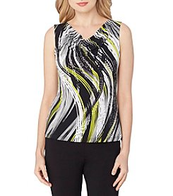 Tahari ASL® Drape Neck Printed Knit Top
