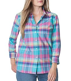 Chaps® Plus Size Plaid Broadcloth Shirt
