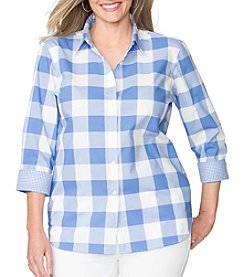 Chaps® Plus Size Gingham Broadcloth Shirt