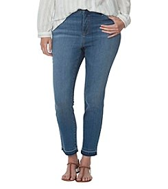 Chaps® Plus Size Stretch-Denim Capri Pants