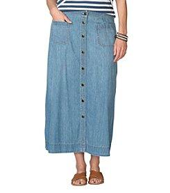 Chaps® Plus Size A-Line Denim Skirt
