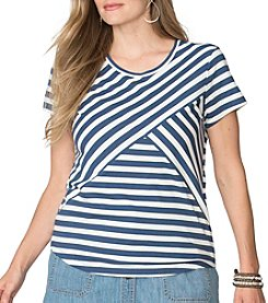 Chaps® Plus Size Striped Jersey Shirt