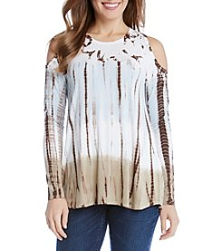 Karen Kane® Cold-Shoulder Tie Dye Top