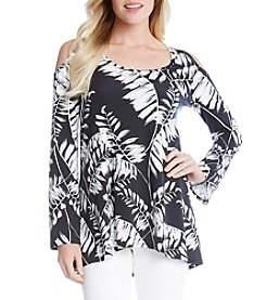Karen Kane® Leaf Cold-Shoulder Top