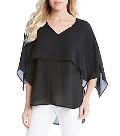 Karen Kane® Double Layered Sheer Top