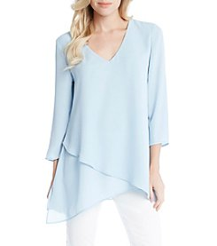 Karen Kane® Layered Wrap Asymmetric Hem Top